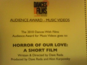 Dances With Films Award